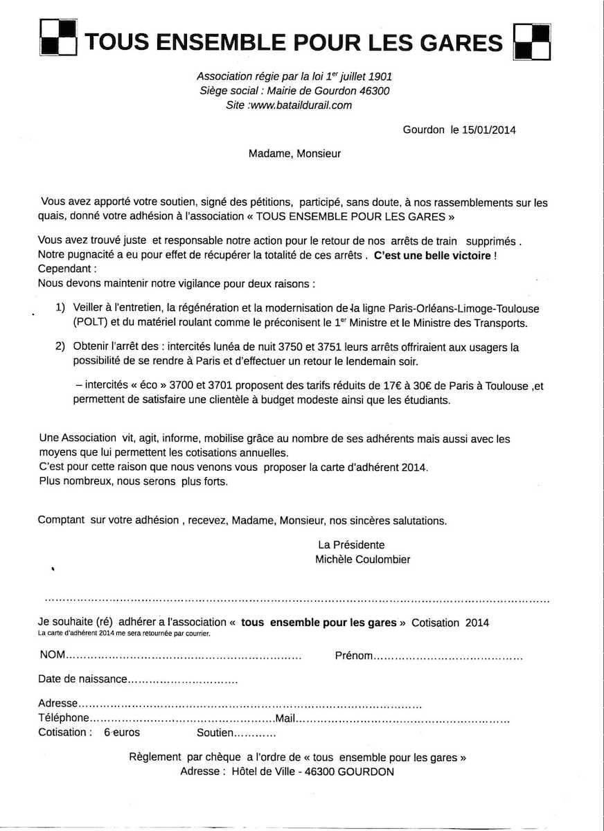bulletin adhésion teplg 2014