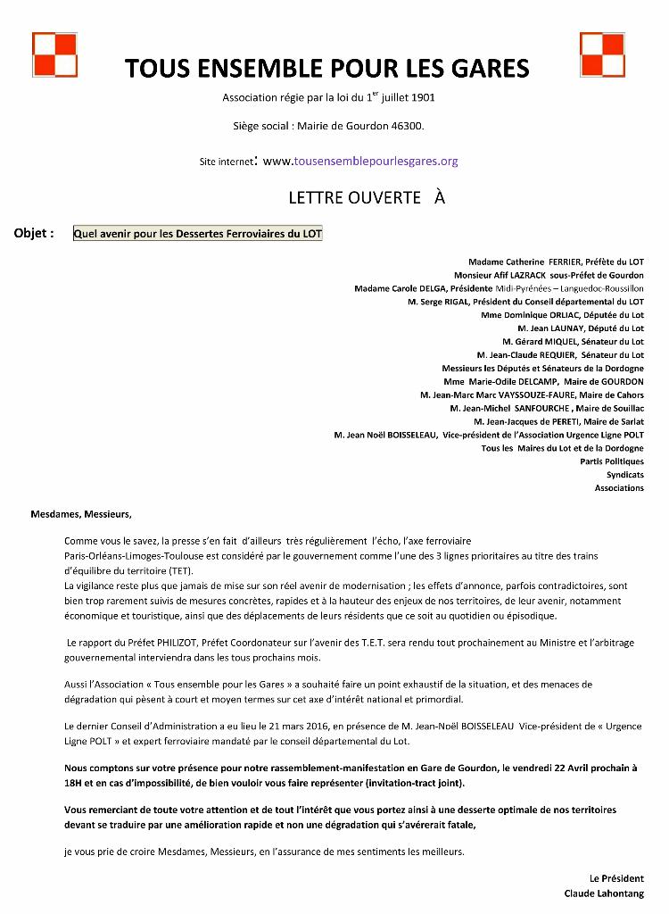 Microsoft Word - lettre aux élus syndicats etc..