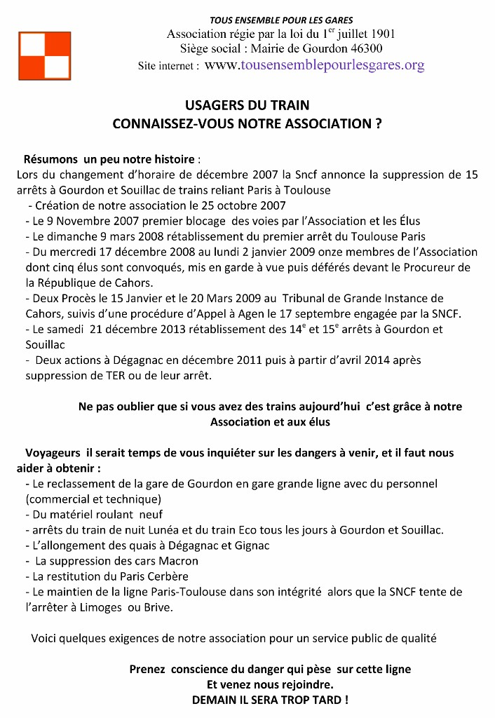 Microsoft Word - 16 07 07 tract pour LA GARE ET DISTRIBUTION DAN