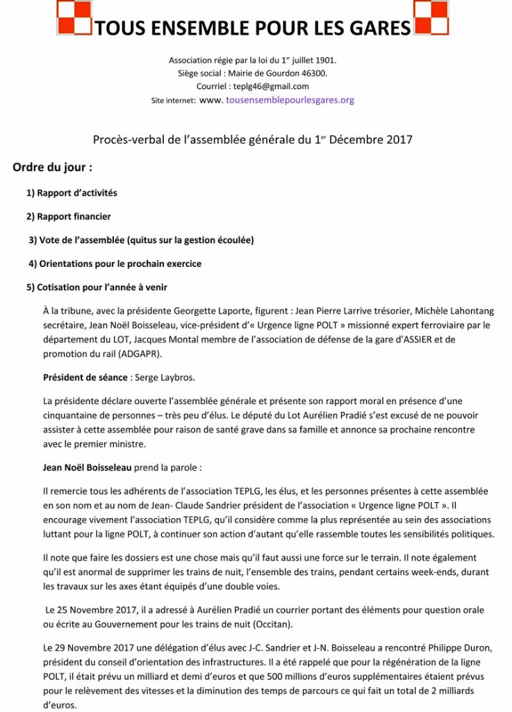 Procès verbal AG 2017-1